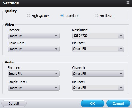 Samsung TV iTunes Converter Settings
